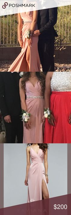 Prom dress Size 0 Faviana prom gown, a jewelled sash was added. I'm 5'4 and wore 3 inch heels. Only worn once. Faviana Dresses Prom