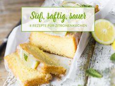 13 frische Zitronenkuchen für den sonnigen Kaffeklatsch