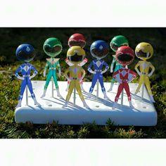 Iracely Toro:  Power Ranger cake pops.  Too cute!!!