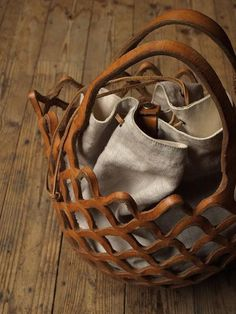 gorgeous leather basket.