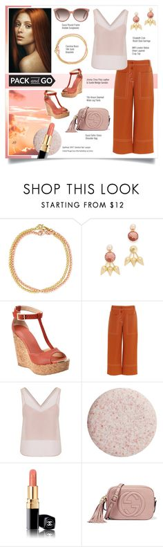 """""""Untitled #1102"""" by louise-stuart ❤ liked on Polyvore featuring Carolina Bucci, Elizabeth Cole, Jimmy Choo, TIBI, WtR London, SpaRitual, Chanel and Gucci"""
