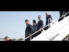 El Real Madrid llegó a Milán http://j.mp/25mC26c