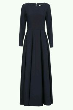 Black maxi dress with long sleeve