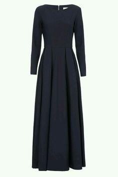Black maxi dress with long sleeve