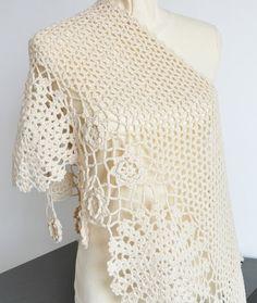 Tejidos - Knitted - crochet shawl scarf