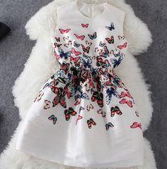 637ac409e05 Butterfly Print Sleeveless Dress AFCHGE