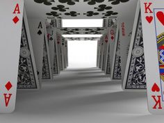 Tunnel of playing cards #PlayingCards - Carefully selected by @Gorgonia www.gorgonia.it