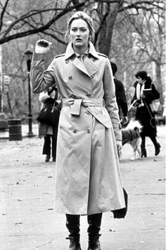 Meryl in a trench- Kramer vs. Kramer.  Love her, love this movie