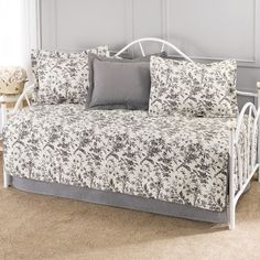 Found it at Wayfair - Amberley 5 Piece Daybed Set in Black & White