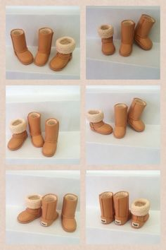 Polymer clay UGG Boots tutorial
