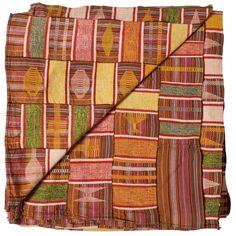 Vintage 'Ewe Kente' cloth handmade by the Ewe people of Ghana and Togo.