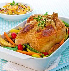 HELSTEKT KYLLING MED URTER OG MASCARPONE Frisk, Poultry, Turkey, Meat, Chicken, Food, Mascarpone, Backyard Chickens, Turkey Country