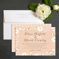 Botanical Blooms Wedding Invitations by Elli