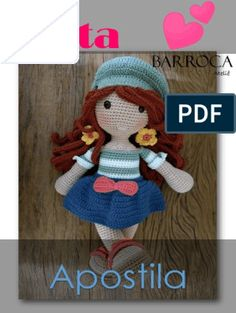 Amigurumi pattern Birthday Cake by Crochet Patterns Amigurumi, Amigurumi Doll, Crochet Dolls, Crochet Clothes, Crochet Stitches, Crochet Hats, Diy Crochet, Free Pattern, Diy And Crafts