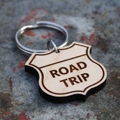 Road Trip Wooden KEYCHAIN by HabitNationUSA on Etsy https://www.etsy.com/listing/215355222/road-trip-wooden-keychain