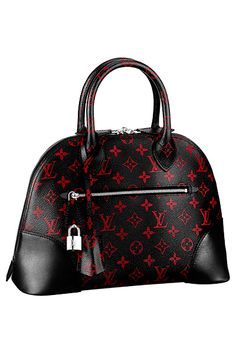 Louis Vuitton Black/Red Monogram Canvas Alma Bag - Spring 2015