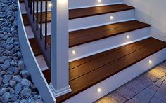 We are using the LED step and stair lighting on the new deck. Deck Lighting | LED Step & Stair Lights | Post Lights | Trex