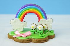 Haniela's: Rainbow Centerpiece and a Virtual Baby Shower for Meaghan of The Decorated Cookie