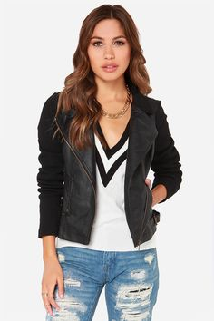 Others Follow Outcast Black Vegan Leather Moto Jacket at LuLus.com!