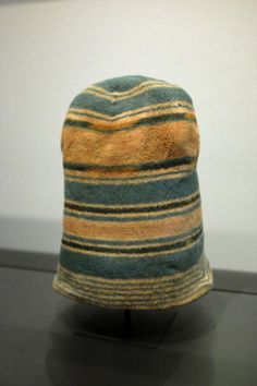 "Woollen Dutch whaler's caps, 17th C. ""The men recognized one another only by the pattern of stripes."" Rijksmuseum [1].  Caleb Crain @caleb_crain"