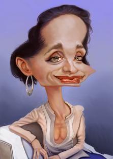 Kristin Scott Thomas caricature
