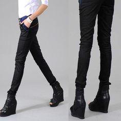Women's Pencil Pants Korean Style Harem Trousers Long Patchwork $23.99 CAD