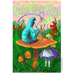 Alice In Wonderland Hooka Pipe smoking catepillar