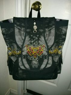 Skully backpack dual messenger bag