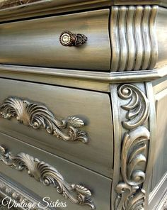 Cool Furniture Inspiration – My Life Spot Silver Painted Furniture, Furniture Projects, Silver Furniture, Furniture Makeover, Furniture, Furniture Inspiration, Chalk Paint Furniture, Metallic Painted Furniture, Cool Furniture