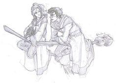 Harry flirting with Ginny by burdge bug