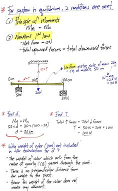 Basic concepts on moments Gcse Physics, Physics Lessons, Learn Physics, Physics Concepts, Basic Physics, Physics Formulas, Physics Notes, Physics And Mathematics, Civil Engineering Handbook