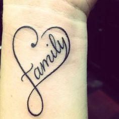 women tattoos heart Family | tattoo #infinity #heart #family by Olive Oyl