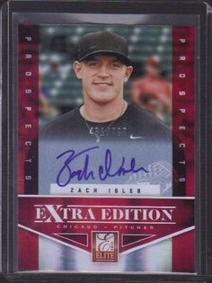 ZACH ISLER 2012 ELITE EXTRA EDITION CHICAGO ROOKIE RC  AUTOGRAPH #52/797 SP