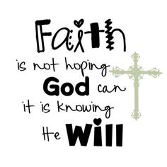 Now faith is being sure of what we hope for and certain of what we do not see. Heb.11:1