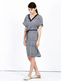 SALE Blue dress - kimono dress - oversized dress - midi dress - short sleeve dress - bell sleeve dress - casual summer dresses