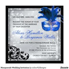 Masquerade Wedding Invitation