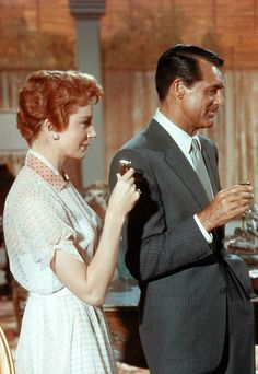 "goldenageestate: "" Deborah Kerr & Cary Grant ~ An Affair to Remember, 1957 "" Old Hollywood Stars, Vintage Hollywood, Hollywood Glamour, Classic Hollywood, Hollywood Icons, Old Movie Stars, Classic Movie Stars, Classic Movies, Cary Grant"