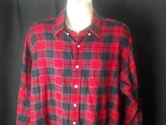 Ralph Lauren Polo  Mens L  Flannel Shirt Multi Color #RalphLauren #ButtonFront