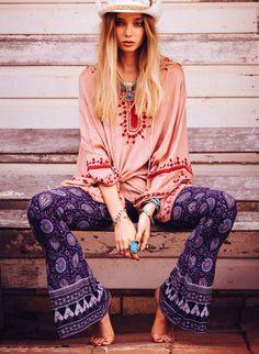 Boho, hippie girl