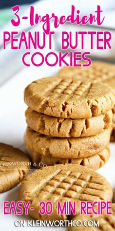 Making peanut butter cookies doesn't get any easier than these Peanut Butter Cookies that are so soft & chewy. You better make a double batch! easy 3 ingredients easy for a crowd easy healthy easy party easy quick easy simple Peanut Butter Cups, Homemade Peanut Butter Cookies, Making Peanut Butter, Classic Peanut Butter Cookies, Flourless Peanut Butter Cookies, Butter Chocolate Chip Cookies, Peanut Butter Oatmeal, Peanut Butter Cookie Recipe, Peanut Butter Recipes