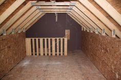 Garage Attic Truss, Staircase v/s Ladder. What is the best way to access a garage attic . Garage Room, Garage Attic, Attic Playroom, Attic Loft, Garage Stairs, Attic Office, Attic Truss, Attic Staircase, Staircases
