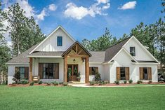 Rustic Craftsman Cottage House Plans Family Home Plans www.Familyhomepla… … Rustic Craftsman Cottage House Plans Family Home Plans www. Family House Plans, Cottage House Plans, New House Plans, Dream House Plans, Farmhouse House Plans, Modern Farmhouse Floor Plans, 4 Bedroom House Plans, Farmhouse Windows, Acadian House Plans
