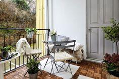 Nos encantan estos ambientes para disfrutar de las bajas temperaturas y de los ambientes invernales en la terraza.