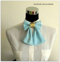 Stylish Bow Tie #blue #sequin #bow