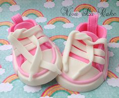 Fondant Baby Girl Converse shoes Cake topper by vivalacakeshop, $25.00