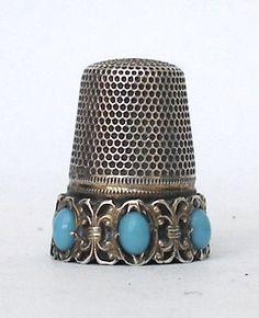 vintage thimbles | antique thimbles, silver thimbles, gold thimbles