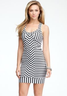 bebe | Striped Racerback Tank Dress - View All