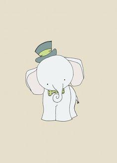 Elephant Nursery Art Print Circus Nursery by sweetmelodydesigns, $10.00