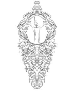 Light a candle #tattoo #tattoodesign #tattoos #tattooed #tattooedgirls…