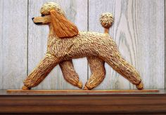 6 Coat Styles-Poodle (Dog in Gait) Topper. In Home Wall or Shelf Decor Products & Gifts.